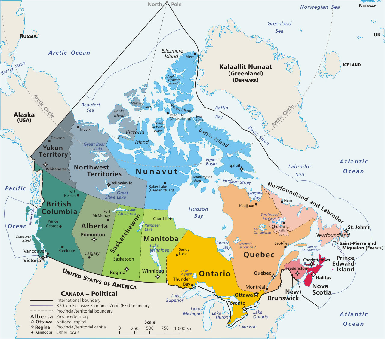 North America Map Including Central America Bugbog Reference Map - Canada north america map